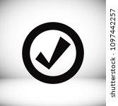 confirm icon  stock vector...   Shutterstock .eps vector #1097442257