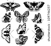 the contours of butterflies.... | Shutterstock . vector #109746257