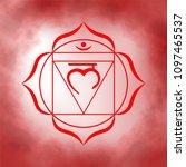 first  root chakra   muladhara. ... | Shutterstock .eps vector #1097465537