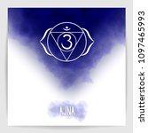 sixth  third eye chakra   ajna. ... | Shutterstock .eps vector #1097465993