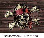 Pirate skull with Bandana