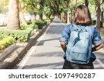 summer lifestyle portrait of...   Shutterstock . vector #1097490287