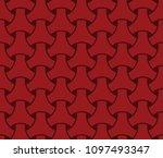 japanese seamless wicker... | Shutterstock .eps vector #1097493347