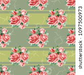 seamless floral pattern with... | Shutterstock .eps vector #1097500973