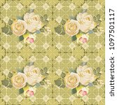 seamless floral pattern with... | Shutterstock .eps vector #1097501117