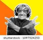 art collage. magazine style....   Shutterstock . vector #1097524253