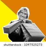 collage in pop art style  ...   Shutterstock . vector #1097525273