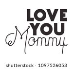 happy mothers day typography... | Shutterstock .eps vector #1097526053