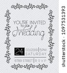 wedding and married invitation... | Shutterstock .eps vector #1097531393