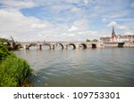 St. Servaas bridge - stock photo