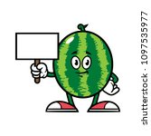 cartoon watermelon character... | Shutterstock .eps vector #1097535977