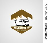 adventure rv camper car logo... | Shutterstock .eps vector #1097542877