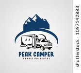 adventure rv camper car logo... | Shutterstock .eps vector #1097542883