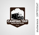 adventure rv camper car logo... | Shutterstock .eps vector #1097553167