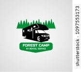 adventure rv camper car logo... | Shutterstock .eps vector #1097553173