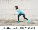 young  fit and sporty girl in...   Shutterstock . vector #1097554583