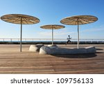 boy runs at the old tel aviv... | Shutterstock . vector #109756133