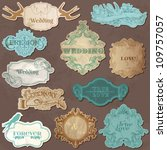 wedding vintage frames and...   Shutterstock .eps vector #109757057