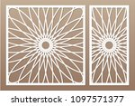 set decorative card for cutting ... | Shutterstock .eps vector #1097571377