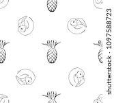 black and white seamless vector ... | Shutterstock .eps vector #1097588723