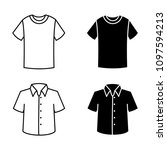 man shirt  clothes linear icons ... | Shutterstock .eps vector #1097594213