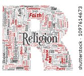 conceptual religion  god  faith ... | Shutterstock . vector #1097614673