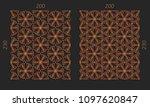 laser cutting panels. veneer...   Shutterstock .eps vector #1097620847