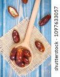 heap of dates as source natural ...   Shutterstock . vector #1097633057