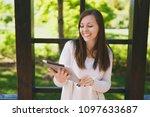 portrait of beautiful woman...   Shutterstock . vector #1097633687