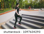 young athletic beautiful...   Shutterstock . vector #1097634293
