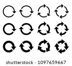 circle arrow icon. refresh and...   Shutterstock .eps vector #1097659667
