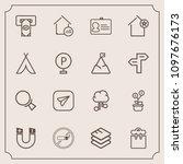 modern  simple vector icon set...   Shutterstock .eps vector #1097676173