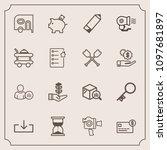 modern  simple vector icon set...   Shutterstock .eps vector #1097681897