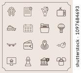 modern  simple vector icon set...   Shutterstock .eps vector #1097684693