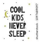 cartoon nursery poster for kids.... | Shutterstock .eps vector #1097689097
