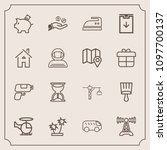 modern  simple vector icon set... | Shutterstock .eps vector #1097700137