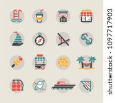 holiday and summer icons | Shutterstock .eps vector #1097717903