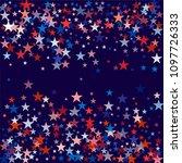 patriotic american stars... | Shutterstock .eps vector #1097726333