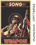 song is our weapon. vector... | Shutterstock .eps vector #1097748563
