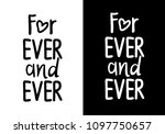 forever and ever black and... | Shutterstock .eps vector #1097750657