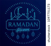 ramadan kareem background with... | Shutterstock .eps vector #1097751173