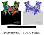 two print for t shirt with... | Shutterstock .eps vector #1097759003