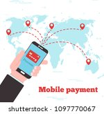 world mobile payment concept in ...   Shutterstock .eps vector #1097770067
