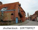 bruges  belgium 18 february... | Shutterstock . vector #1097789927
