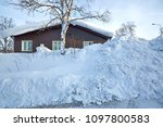 huge heap of snow covering the... | Shutterstock . vector #1097800583