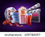 vector illustration of cinema... | Shutterstock .eps vector #109780097