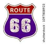 road sign in vintage grunge...   Shutterstock .eps vector #1097808923