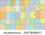 colorful jigsaw puzzle  vector... | Shutterstock .eps vector #1097808947