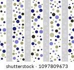 seamless dots pattern | Shutterstock .eps vector #1097809673
