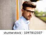 portrait of young entrepreneur. ... | Shutterstock . vector #1097812337